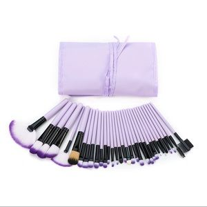 32 Pcs Makeup Brushes Pale Purple